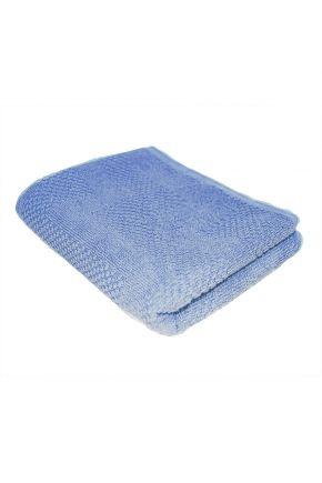 Хлопковое полотенце синее