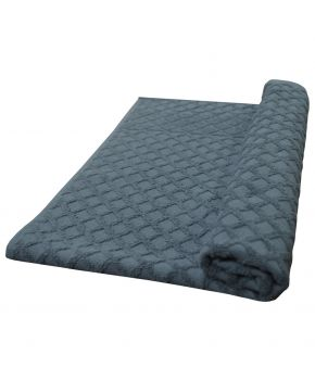 Махровое полотенце Glossy серое