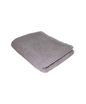 Полотенце махровое серое