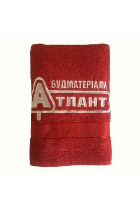 Полотенце с логотипом Атлант