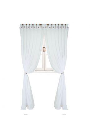Гардина White с декоративными пуговицами