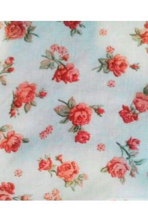 Занавески батистовые с фиранкой Red Rose