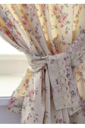 Готовые шторы Bella розы