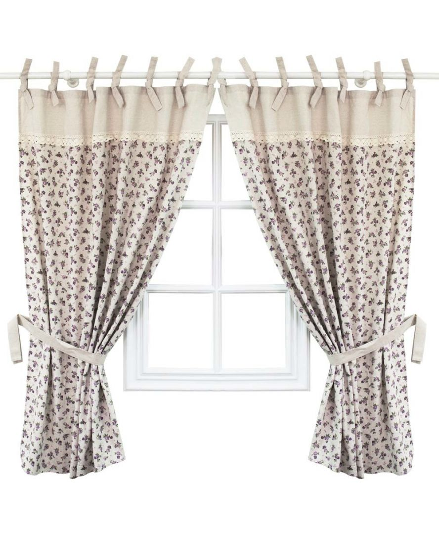 Готовые шторы Lilac rose с кантом