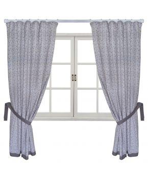 Готовые шторы Ретро с серым