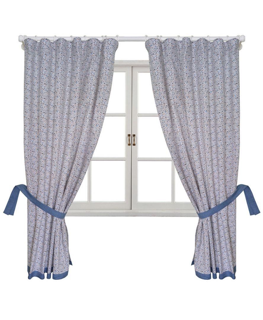 Готовые шторы Ретро с синим