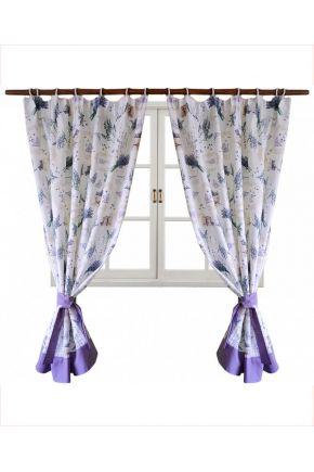 Короткие шторы Лаванда