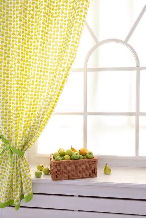 Короткие шторы Яблочки
