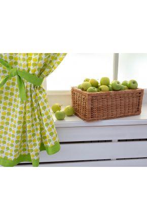 Шторы на кухню Яблочки