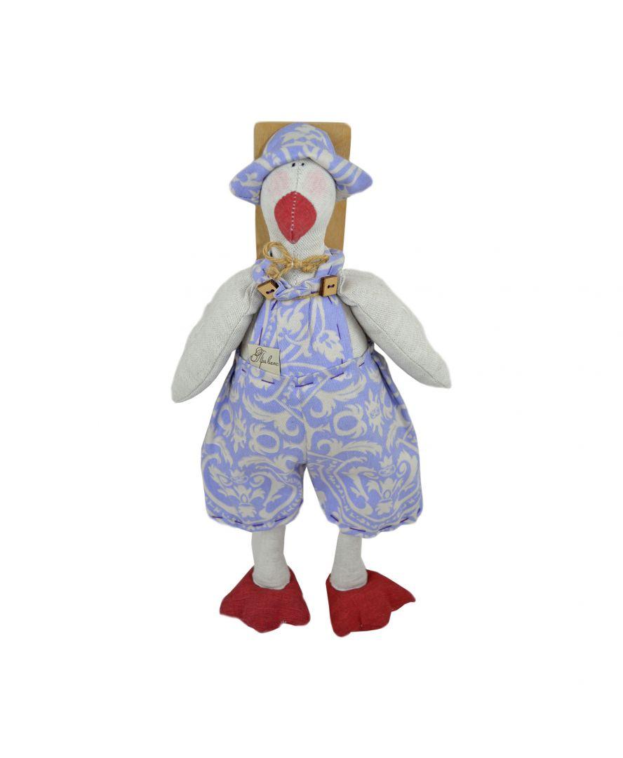 Интерьерная игрушка Гусь в костюме Фреска-Лаванда