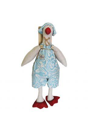 Интерьерная игрушка Гусь в костюме Фреска-Тиффани
