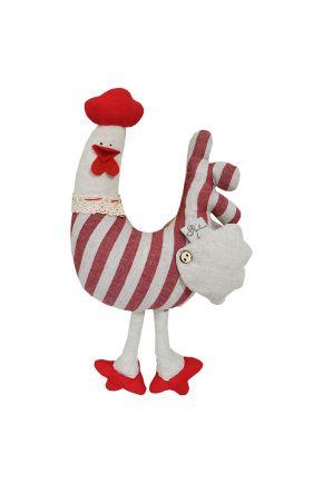Интерьерная игрушка Петух навесной в полоску