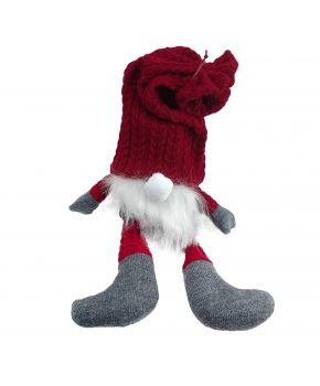 Декоративная игрушка Гном-сюрприз с секретом в красном колпаке с ножками