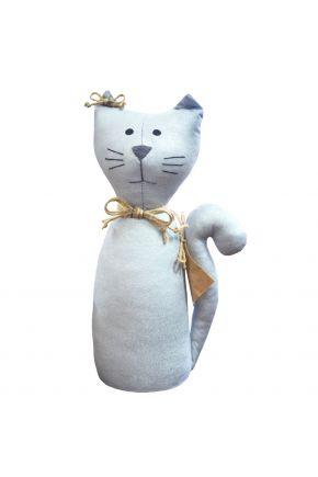 Интерьерная игрушка кот на стол Silver Dust
