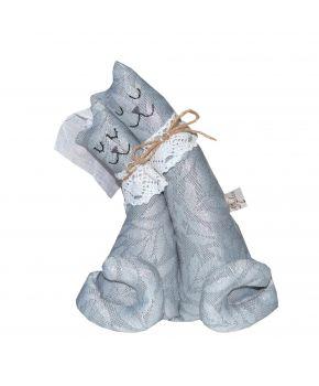 Интерьерная игрушка Коты неразлучники Серое серебро