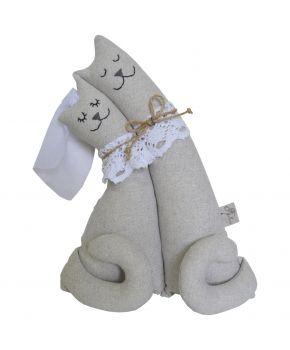 Интерьерная игрушка Коты неразлучники Silver
