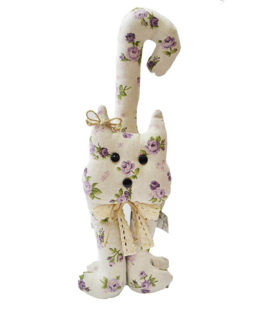 Интерьерная игрушка кот Lilac rose 40 см