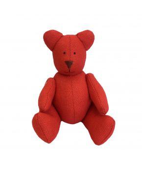 Интерьерная игрушка мишка Тедди красный