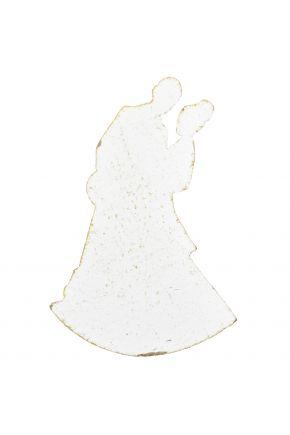 Декор из дерева Силует белые он и она