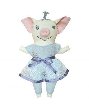 Интерьерная игрушка девочка свинка