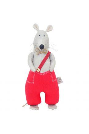 Интерьерная игрушка Крыса в красных штанах