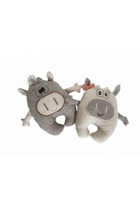 Интерьерная игрушка Маленькие бычки Лира и Дил