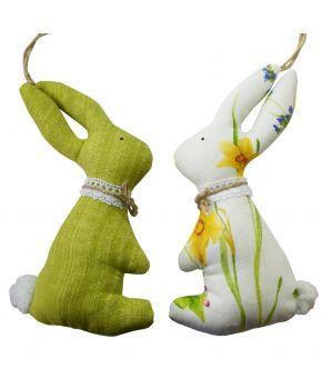 Интерьерная игрушка парочка Зайцев Весна