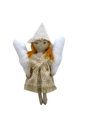 Интерьерная кукла ангел-девочка золото