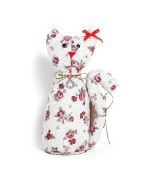 Интерьерная кукла кот на стол Red Rose