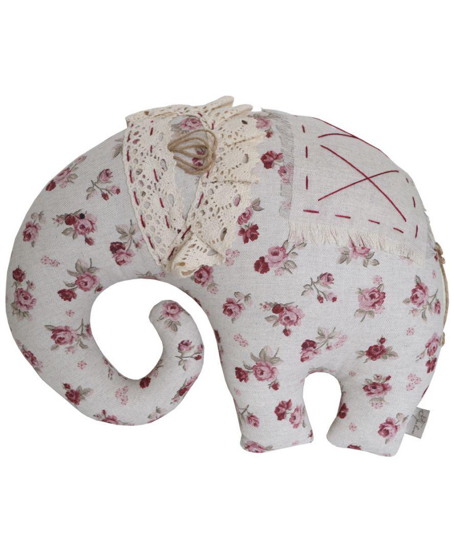 Декоративная подушка игрушка слон Red Rose