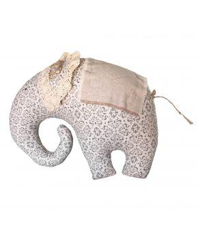 Декоративная подушка слон Bella серый витраж