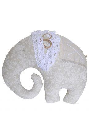 Декоративная подушка слон White Rose