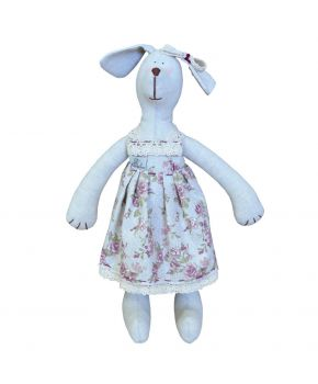 Интерьерная игрушка собака девочка в платье rosettes