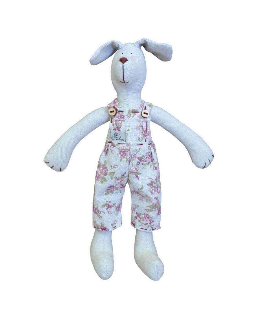 Интерьерная игрушка собака мальчик в штанах rosettes