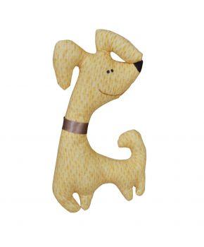 Интерьерная игрушка собака Жужа желтая