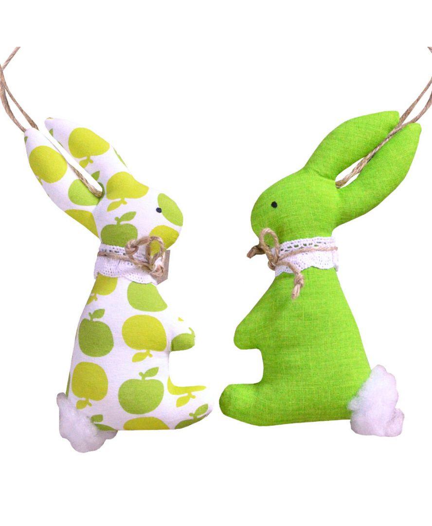 Интерьерная игрушка парочка Зайцев Яблучко