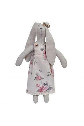 Интерьерная игрушка зайка в платье Bella Розы