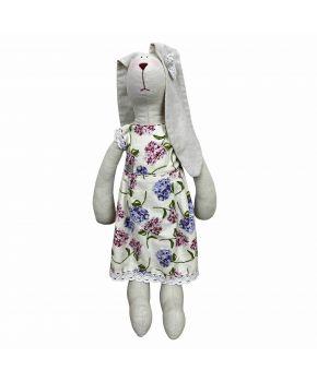 Интерьерная игрушка зайка в платье Садовые цветы большая
