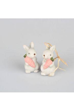 Декоративное изделие кролики 2 шт
