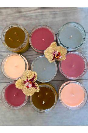Свеча в банке Lucys Candles серая