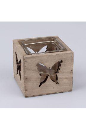 Подсвечник бабочки дерево