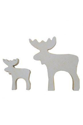 Декоративный сувенир из дерева Лось белый ТМ Прованс
