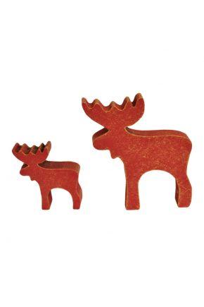 Декоративный сувенир из дерева Лось красный ТМ Прованс