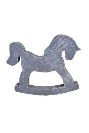 Деревянный декор лошадка-качалка дымка 100 мм