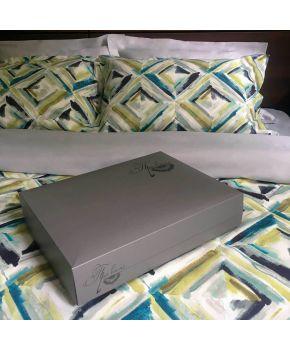 Подарочная коробка серая