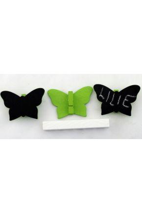 Прищепка садовая бабочка зеленая
