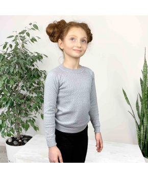 Джемпер для девочки Весна серый