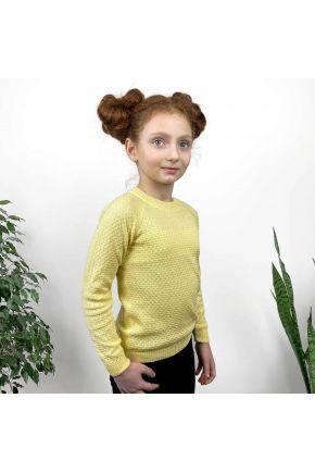 Джемпер для девочки Весна желтый