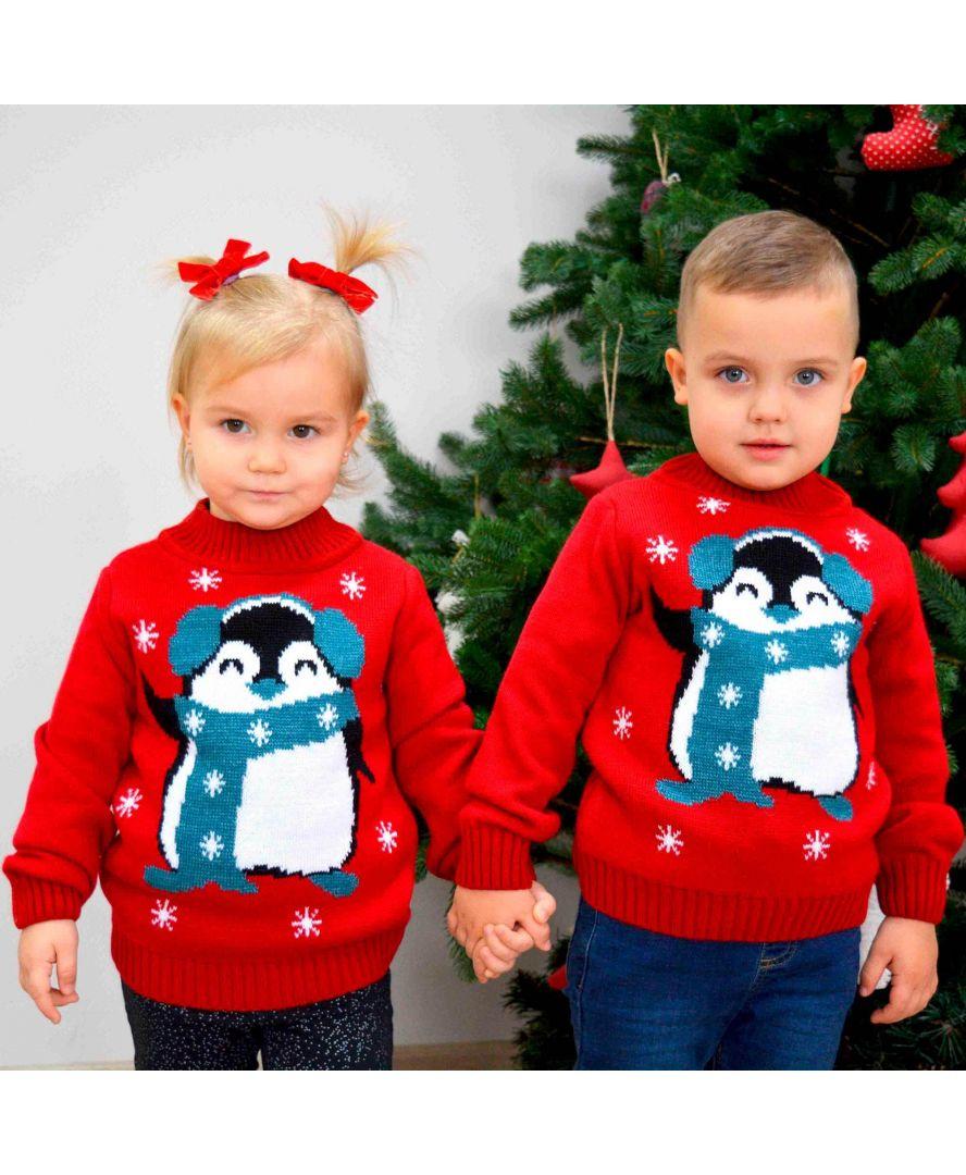 Набор джемперов для деток Family look Пингвин
