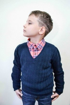 Свитер для мальчика Геометрия темно-синий